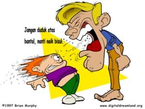 ilustrasi By:manson......( orang tua memarahi anak nya )